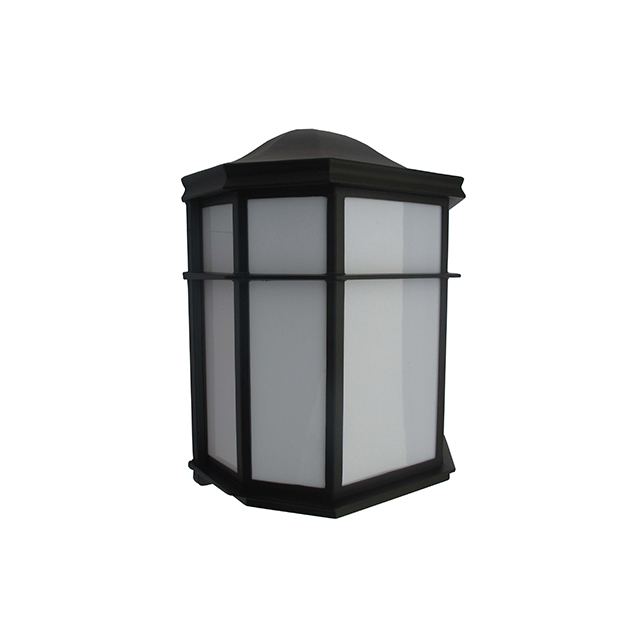 1 Lt Flush Outdoor Wall Light Matte Black Lasalle Bristol